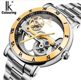 2019 orologi ik IK colorazione orologio da uomo 5ATM impermeabile lusso cassa trasparente cinturino in acciaio inossidabile orologio da polso meccanico maschile Relogio Masculino orologi ik economici