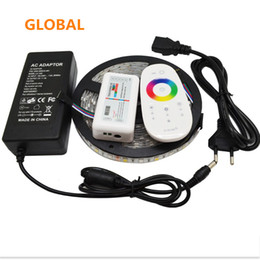 Wholesale Wholesale Rgb Led Diodes - 5M Flexible RGBW 5050 SMD LED Strip Light IP65 Waterproof DC12V RGB+White Diode Tape +RGBW Remote Controller+ 12V 5A Power Adapter 10pcs lot