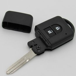 Wholesale Blank R - 2016 new car smart key case for Nissan 2 button flip remote key shell FOB key blank cover