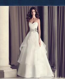 Wholesale Cheap Flower Printed Wedding Dresses - Wedding Dresses Online Strapless Sweep Train Wedding Gowns Lace Vintage Simple and Elegant Vestidos de Novia Cheap