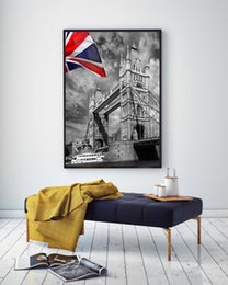 Wholesale Poster Printing London - Modern family decoration wall art canvas printed mural posters London bridge free shipping