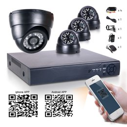 Wholesale Wide Angle Security System - 4CH H.264 Security DVR NVR HD Wide Angle 700TVL CMOS 24IR 3.6mm CCTV Cameras high resolution system IP camera indoor email alert
