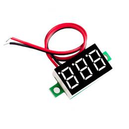 Wholesale Frequency Voltmeter - Wholesale-Green Second line precision dc digital voltmeter head LED digital voltmeter DC4.5V-30V