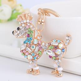 Wholesale Rhinestone Crown Keychain - Rhinestone Crown Dog Dachshund Keychain Bag Charm Pendant Keys Holder Keyring Jewelry For Women Girl Gift Keychain Jewelry