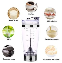 Wholesale Protein Shaker Mixer - 450ml Electric Automation Protein Shaker Blender My Water Bottle Automatic Movement Outdoor Tour Coffee Milk Mixer Smart Cup CCA7205 100pcs