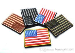 Canada 3.15 pouces 3D brodé Pacth avec bande magique Multicolore drapeau américain armée extérieure brassard / patch coudre sur Patch spersonality GPF-222 Offre