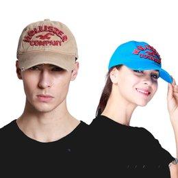 Wholesale Worn Baseball Cap - 2017 cotton cap Men's baseball cap visor cotton Unisex old worn hat,snapback cap