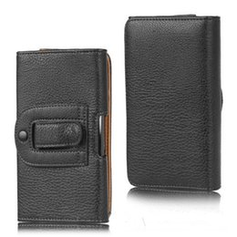 Wholesale Free Blackberry Accessories - Universal belt cellPhone PU leather case for iphone7 plus 6S Samsung S7 edge PU leather Belt case phone accessories free shipping