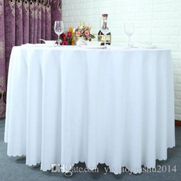 Wholesale Satin Fabric Tablecloth Wholesale - 120 inch Table cloth Table Cover round for Banquet Wedding Party Decoration Tables Satin Fabric Table Clothing Wedding Tablecloth Home Texti