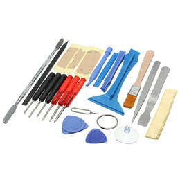 Wholesale cellphone hand - 22 in 1 Open Pry Mobilephone Cellphone Tablet Repair Screwdrivers Sucker Hand Tools set Kit PIT_32W