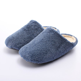 Wholesale Hot Candy Shoes - Wholesale- Hot Selling Candy Men Women Shoes Winter Fleece Indoor Household Floor Lover Slippers Warm Soft Non-slip Sole Flats Pantuflas