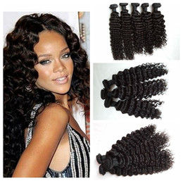 Wholesale Cheap Brizilian Hair - Brizilian human hair Bundles 100% human hair weaves deep curly 3Pcs Cheap hair extensions G-EASY wefts
