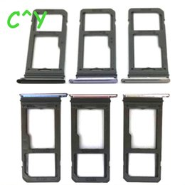 Wholesale Sim Card Slot Tray - For Samsung Galaxy S8 G950F S8 Plus G955F SIM Card Tray Holder Slot Sim Card Reader Single & Dual Sim