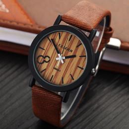Wholesale Watch Leahter - Relojes Hombre 2016 Simulation Wooden Watch Quartz Men Watches Vintage Leahter Casual Wood Male Wristwatch Relogio Masculino