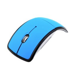 Wholesale Mouse For Computer Usb - 2.4Ghz Foldable Wireless Optical Mouse Folding Optical Mouse Mice with USB Receiver For PC Laptop Computer Red Black Blue