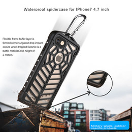 Wholesale Iphone Cases Spider - New Spider Case Waterproof Shockproof Dirt Snow Proof Durable Outdoor Case Cover for Apple Iphone 7 4.7 5.5 inch