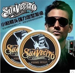 Wholesale Hair Wax Wholesale - Suavecito Pomade Strong style restoring Pomade Hair wax big skeleton hair slicked back hair oil wax mud keep hair pomade men D863