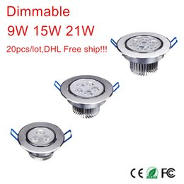 Wholesale new white kitchen cabinets - Wholesale- New 9W 15W 21W good quality lowest price dimmable led downlight lighting lamp AC110V-240V led cabinet light 20pcs lot lights