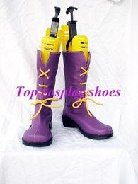 Wholesale Amu Cosplay - Wholesale-Freeshipping anime Shugo Chara Hinamori Amu purple Cosplay Shoes boots #GAI0223