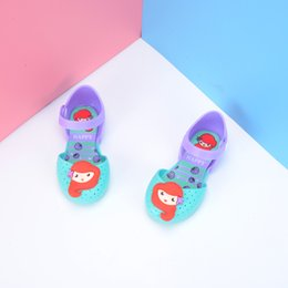 Wholesale Fish Holes - 52 style melissa girl jelly shoes cartoon hole hole shoes fish mouth shoes, Princess sandals retail