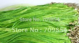 Wholesale Green Silk Cord Necklace - free postage!!! 200 pcs lot 18'' green silk ribbon voile necklace cords #0026
