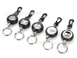 Wholesale Wholesale Retractable Keychains - Steel Rope Burglar Tool Belt Money Retractable Key Recoil Ring Pull Chain Clip Keychain key Chain Chaveiros