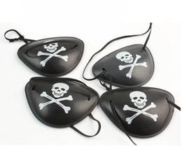 Wholesale Pirate Eye Patches - pirate eye patch 100pcs Halloween masquerade pirate accessories Cyclops eye patch