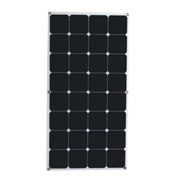 Wholesale Flexible Solar Panels For Boats - High conversion rate and high efficiency output 18V 100W Monocrystalline Solar Panel Semi flexible diy solar module for boat RV