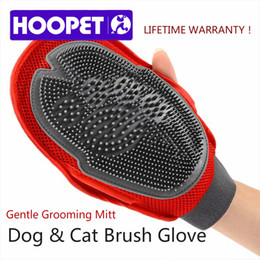 Wholesale Fur Massage Gloves - HOOPET Cat Pet Dog fur Grooming Groom Glove Mitt Brush Comb Massage Bath Brand New big dog wash tool Bubble maker