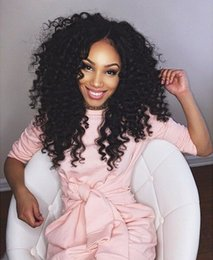 Wholesale cheap full natural curly wig - Full Lace Human Hair Wigs For Black Women Cheap Deep Curly Lace Front Wig Natural Hairline With Baby Hair G-EASY Hair Wigs