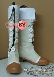 Wholesale Yuri Costume - Wholesale-Tales of Vesperia Yuri Lowell TOV lighter color Cosplay Boots Shoes shoe boot #NC615 Custom made Hand made
