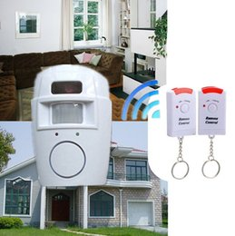 Wholesale Wireless Remote Motion Detector - IR Alarm systems Infrared sensor Security Detector Home System 2 Remote Control Wireless Motion Sensor Alarm Security Detector New