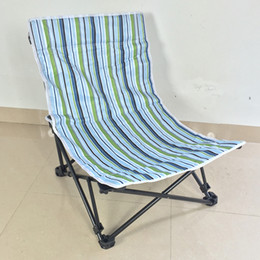 Wholesale Camping Beach Chair - 68*15Cm Adjustable Beach Chair Nap Time Lounge Sleeping Chair Lying Down Camp Chairs Mixed Color Folding Chairs Wholesale