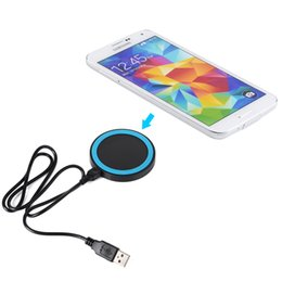 Wholesale S4 Charge Station - Wholesale-Qi Enabled Wireless Power Charger Inductive Charging Pad Station for Samsung Note 3 Note 2 S3 S4 I9500 S5 Nexus 5 Lumia 920 HTC