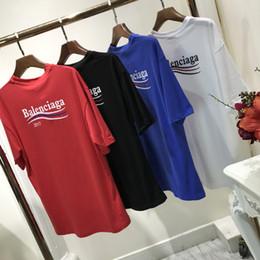 Wholesale Cotton Crew Neck Sweatshirt - off brand clothing hoodies men Quality barcelo Paris short sleeves T Shirts SUP wave yeeus sweatshirt Women O NECK short sleeved t-shirt