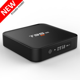Wholesale Xbmc Tv Box - T95M Amlogic S905X Ott TV Box media player Google Android 6.0 T95 1gb 8gb Android Internet TV Streaming Boxes installed XBMC Free TV apps