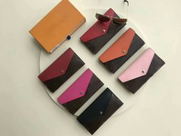 Wholesale Cowhide Box - 2017 Brand MARIE-LOU Designer Fashion women's Wallet Genuine Leather Purse No Zipper Cowhide Wallets CX#37 With Box M60498 Bags