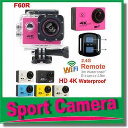 Wholesale Sport Camera Hd Underwater - Waterproof Sports Cam Action camera Ultra HD 4K WiFi Sport Camara 2.0LCD Helmet Cam Diving 30M underwater waterproof Car Recorder DVR JBD-N5