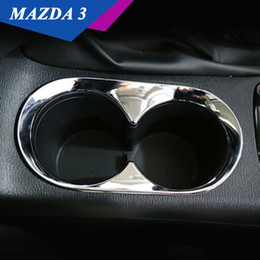 Wholesale Mazda Frame - For 2014 2015 Mazda 3 Axela ABS Chrome Front Center Console Water Cup Holder Cover Surround Frame Trim Cover Car Accessories