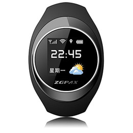 Wholesale Kid Gps Tracking Watch - ZGPAX S888 Bluetooth Waterproof Smart watch Children Elder SOS GPS Tracking Smartwatch Anti-lost Alarm iOS Android Phone For Old Kid Gift