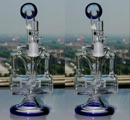 trasporto libero degli hookahs liberi Sconti Nuovo vetro Bong tubi di acqua di circolazione Klein Amazing Vortex Recycler Oil Rigs trasporto libero Narghilè a buon mercato