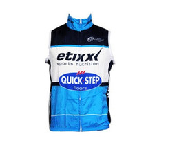 Wholesale Windproof Cycling Vest - 2016 Etixx Quick step windproof Cycling Vest Cycling Jersey Sleeveless Quick Dry Ropa Ciclismo Summer MTB Bike Cycling Clothing