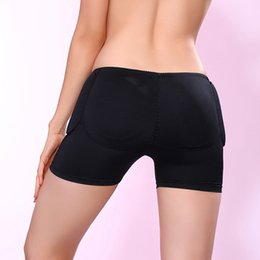 Wholesale Cheap Black Panties - Wholesale-Cheap 2 Pairs Sponge Padding Panties Fixed Fake Panties Body Shaping Hip Plump Knickers Ass Lift Buttocks Haunch Underwear