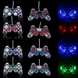 Joypad usb en venta-Double Shock Joypad Transparente USB2.0 PC Vibration Controller GamePad Joypad para PC portátil