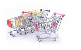 Wholesale fashion shopping cart - artwares Cute Cart Mobile Phone Holder Pen Holder Mini Supermarket office Handcart Shopping Utility Cart pen Holder fashion tool