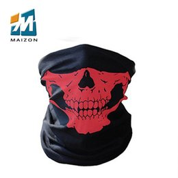 Wholesale Skull Knight - Halloween skull mask multi-function outdoor motorcycle riding half scary horror masks Variety Scarf Warm Knight Scarf masks for sale