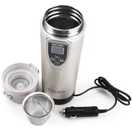 Wholesale Electric Heated Coffee Cup - FCC-350LC Adjustable Temperature Car Boiling Heated Mug Heater Electric Coffee Kettle Boiling Vehicle Thermos Heating Bottle Cups 163387301