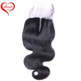 18 polegadas de cabelo malaysian on-line-100% Brasileiro Indiano Malaio Cambojano Peruano Fechamento Superior Do Laço Do Cabelo Humano 8-18 polegada Onda Do Corpo e Reta Fechamento Do Laço 4x4 polegadas