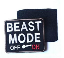 Wholesale Military Patch Wholesalers - 3.5*2.76 inch Beast mode 3D embroidered patch morale badge armband with stickers armband cloth Tactical Patch Morale Military Patch VP-32