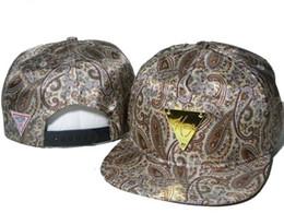 Wholesale Snapback Hater White Hat - West Coast hip-hop Hater snapback wind cashew flower design gold baseball cap hats for men and women couple Harajuku hat
